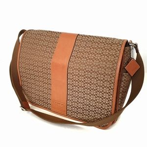 COACH Khaki Signature Messenger Travel/Diaper Bag